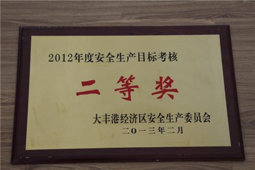 2012年安全生产目标考核
